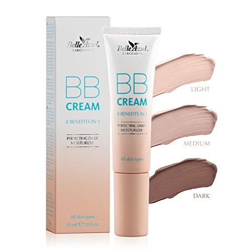 Belle Azul BB Cream 3 Töne - Pflegende Tagespflege mit optimaler Abdeckung in 3 Tönen. Schützt, hydratisiert und verleiht makellosen Teint. Für alle Hauttypen geeignet ? Ohne Parabene und Phtalate ? Nicht an Tieren getestet ? 30ml