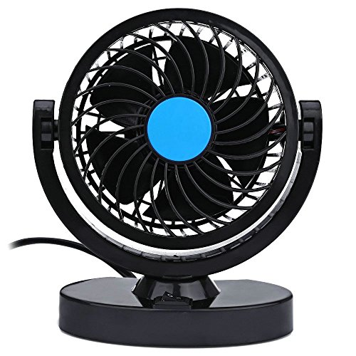 Auto Kfz Lüfter, Mini Auto Ventilator Gebläse Klimaanlage 360 Grad Drehung Einstellbares kein Lärm mit Schalter 3M Aufkleber Armaturenbrett Kühlung Fan 4W,12V