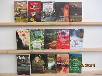 Charlotte Link 15 Bücher Romane Krimi Thriller Kriminalromane historische Romane