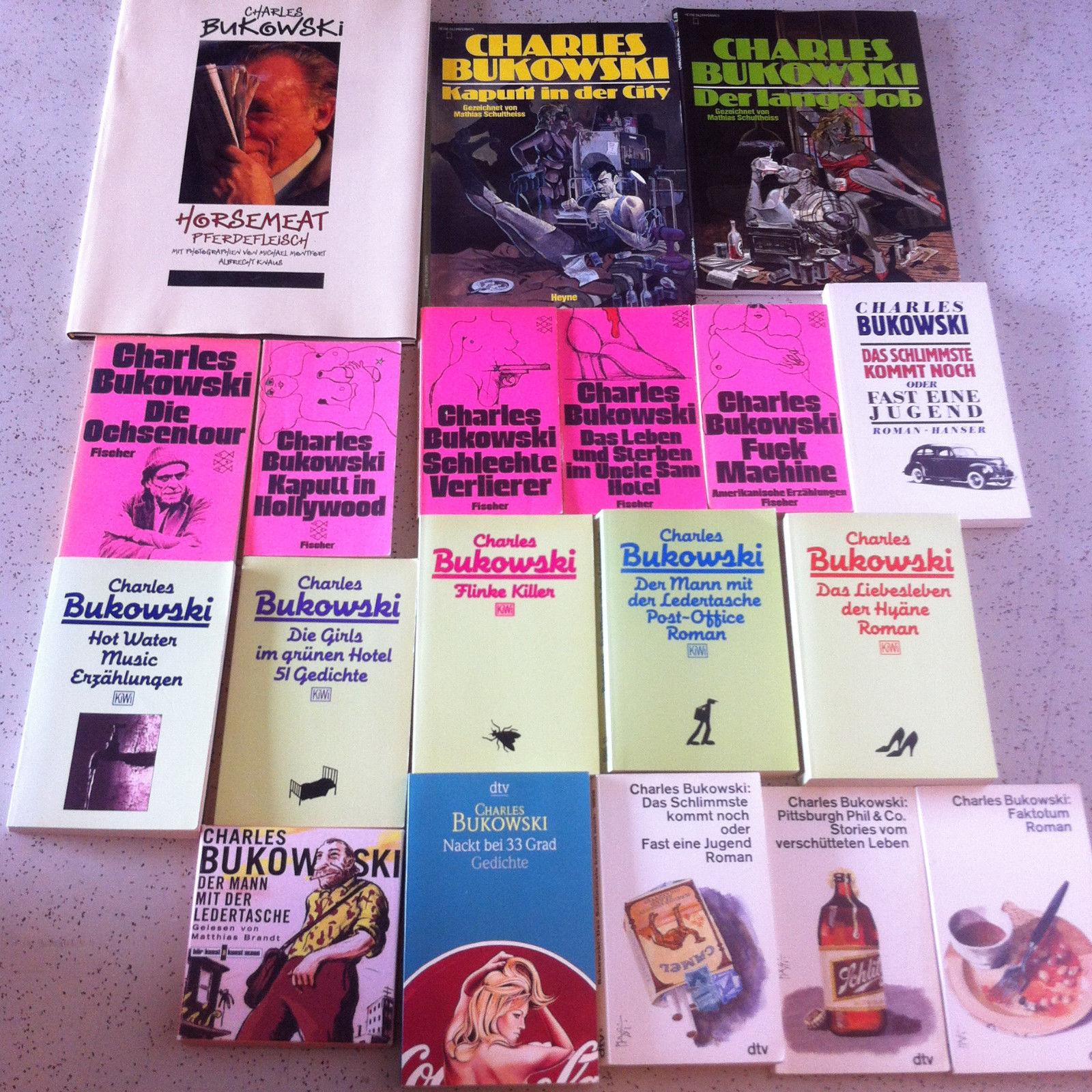 19x Charles Bukowski Büchersammlung Bücherpaket gelesen 4 CD`s Lot Konvolut