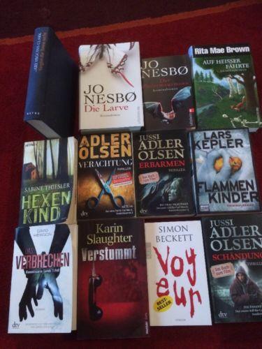12Teiliges Bücherpaket,Krimi/Thriller