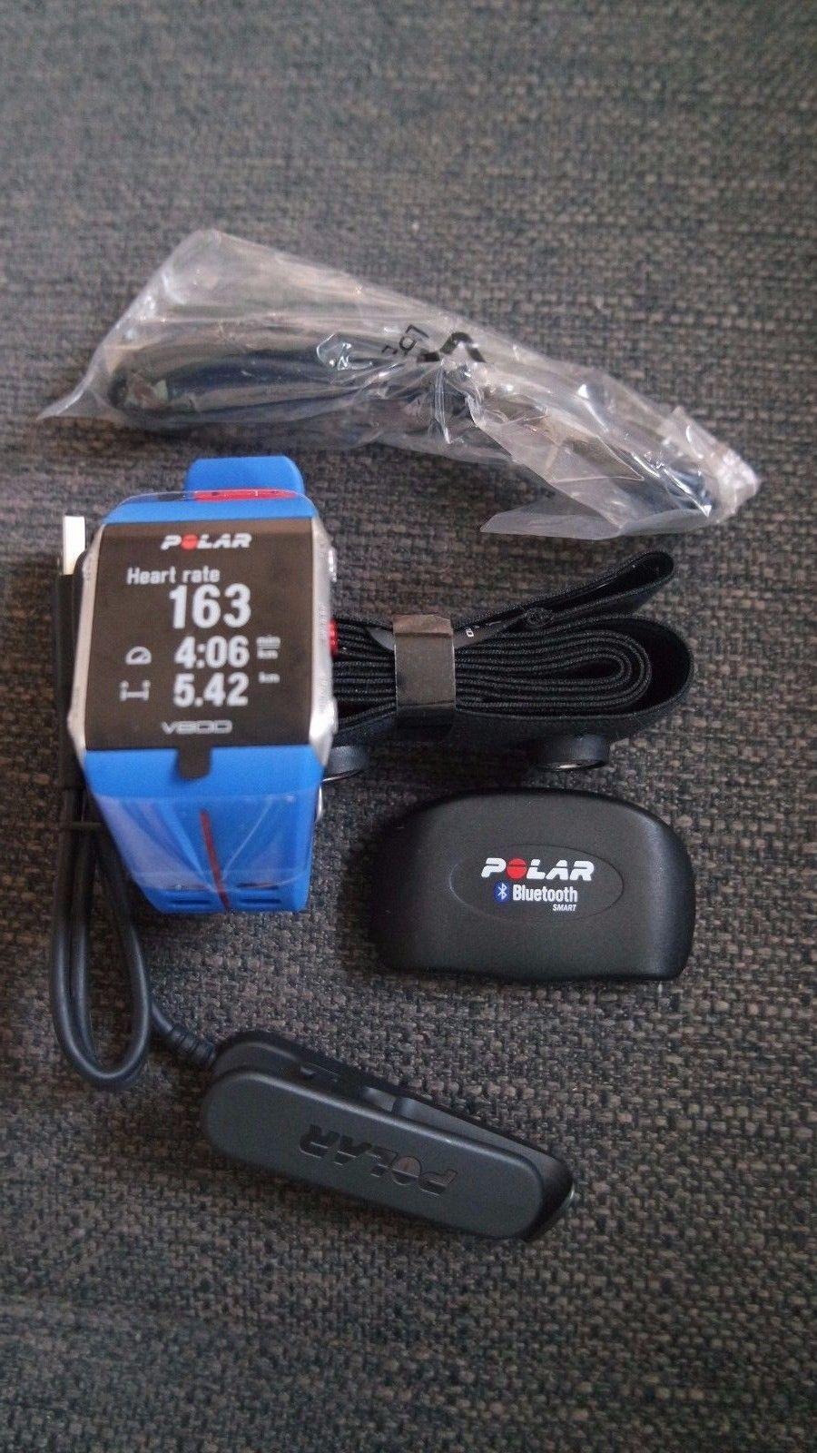 Polar V800 NEU Trainingcomputer GPS-Pulsuhr Bluetooth blau Aktivitätsmesser