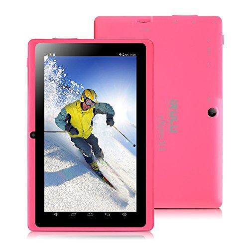 iRULU eXpro X1 7 Zoll Google Android Tablet PC,1024x600 Auflösung,16GB Nand Flash,WiFi,Spiele,Dual Kameras (16GB, Pink)