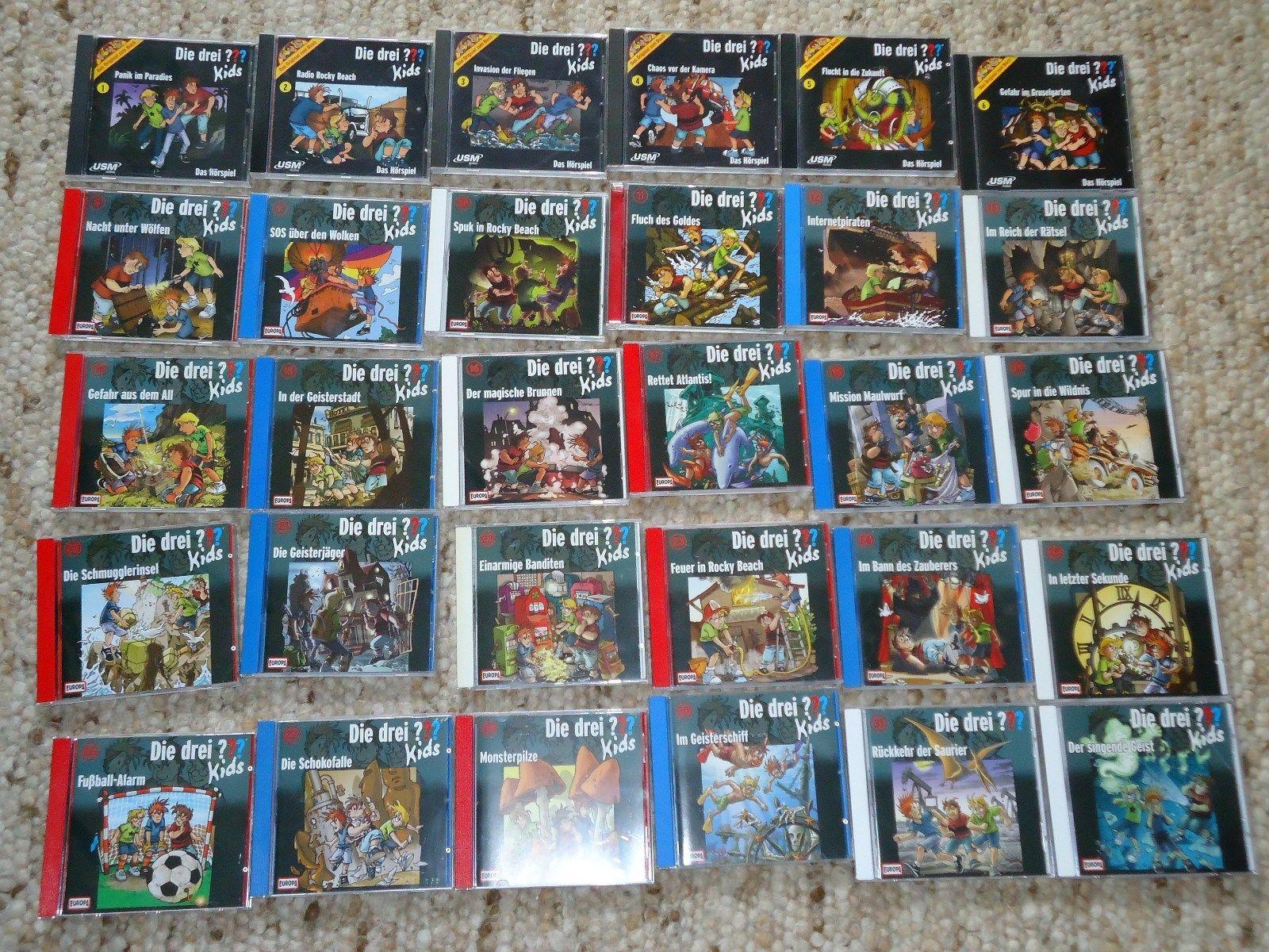 30 CDs Die drei ??? Kids Drei Fragezeichen Nr. 1 - 31 Europa
