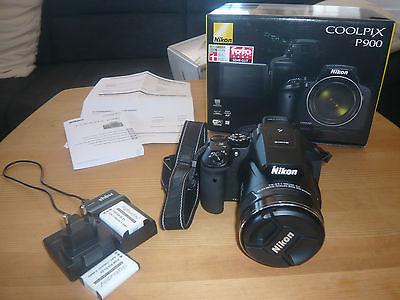 Nikon Coolpix P900 P 900 Digitalkamera - Neuwertig mit Zubehörpaket