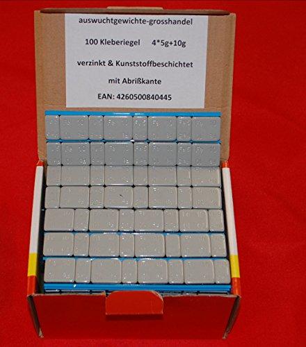 100 KLEBEGEWICHTE 5g+10g Auswuchtgewichte 6Kg mit Abrißkante Kleberiegel BESCHICHTET & Verzinkt