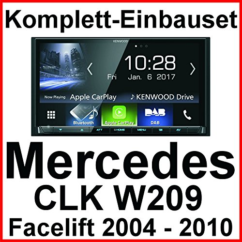 Komplett-Set Mercedes CLK W209 Facelift Kenwood DMX-7017DABS Bluetooth Carplay Android Auto USB MP3 Digitalradio Autoradio