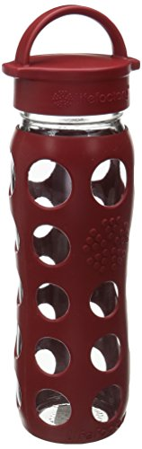 Lifefactory 13573 Glas -Trinkflasche 650ml, red