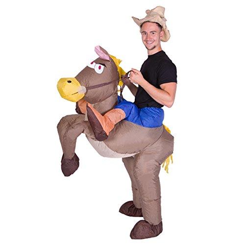 Aufblasbares Erwachsenenkostüm (Cowboy)