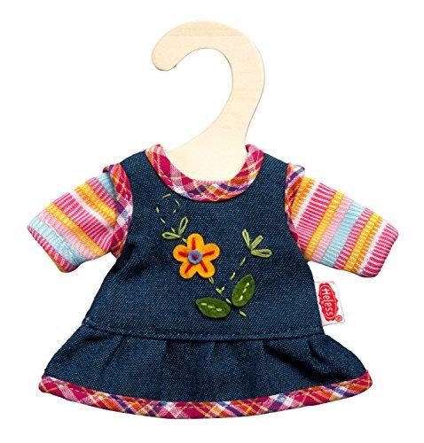 Heless 9510 - Peppiges Puppenkleid mit T-Shirt, Größe 20 - 25 cm