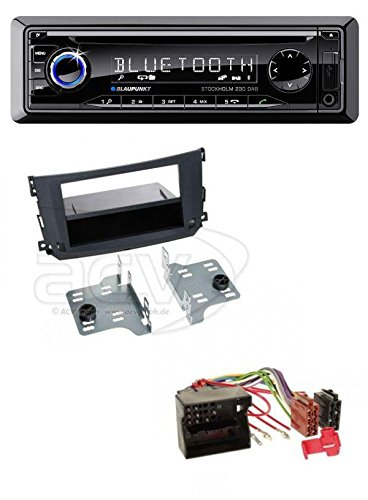 Blaupunkt Stockholm 230 DAB CD USB MP3 Bluetooth DAB Autoradio für Smart ForTwo (451 2010-2015)