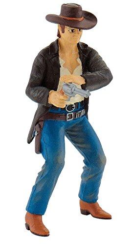 Bullyland 80682 - Spielfigur - Cowboy mit Revolver, Circa 9.8 cm