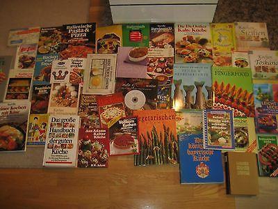 Büchersammlung 45Stk. Kochbücher kochen vegetarisch International Paket Konvolut
