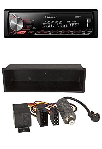 Pioneer MVH-290DAB DAB 1DIN USB MP3 AUX Autoradio für VW Polo T4 Passat Golf (98-04)