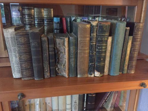 15 Antike Bücher aus Sammlung / Nachlaß