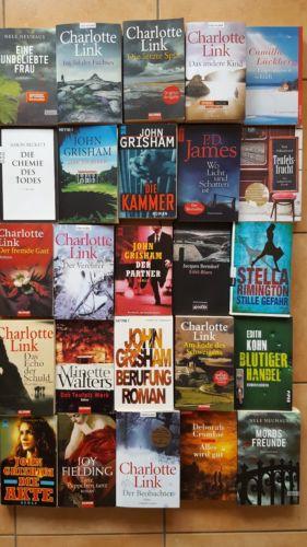 25 Thriller, Krimis, Romane  Bücherpaket, Büchersammlung