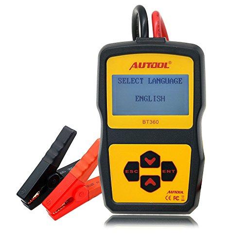 Auto-Batterie-Prüfvorrichtung Batterietester, Stoga BT360 Batterie-System-Prüfvorrichtung für alle Automobil-ankurbelnde Blei Batterie Tester Car Battery Tester -Säure