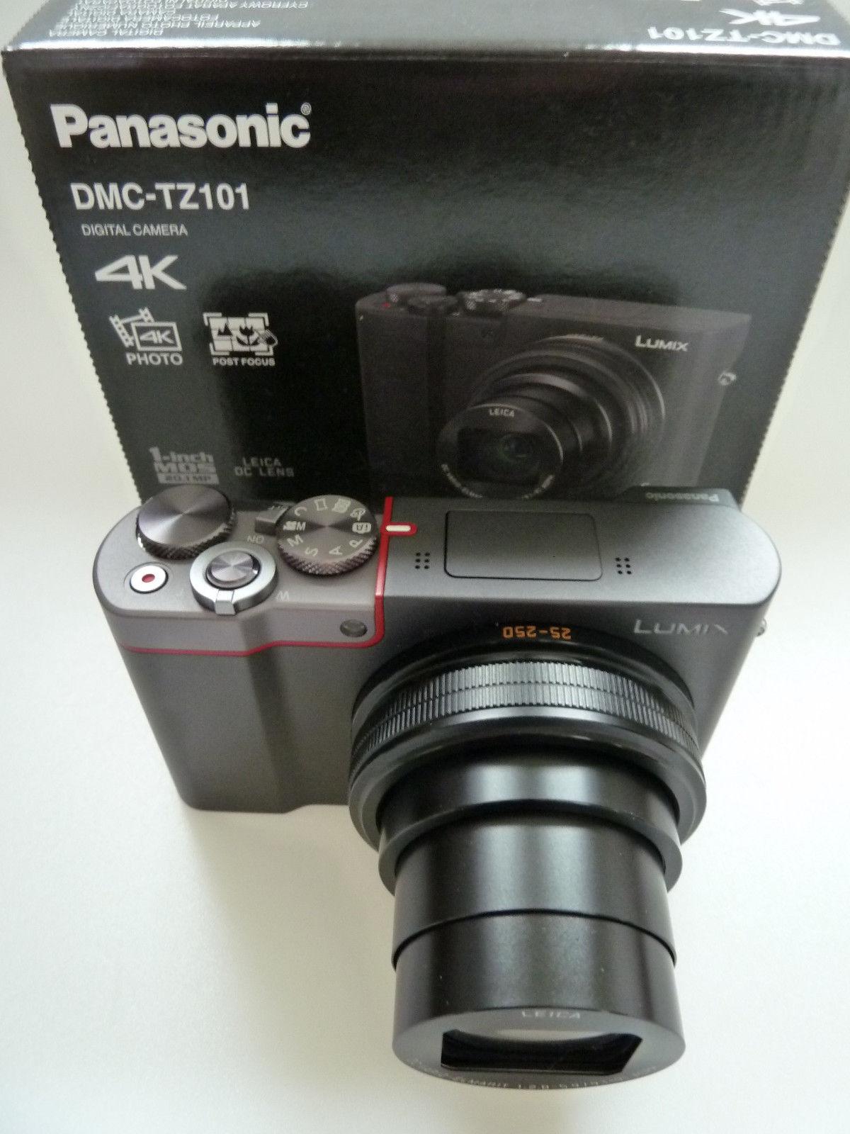 Panasonic DMC-TZ101-EGS wie NEU! Garantie! Lumix TZ101 Silver nur 4 Monate jung!