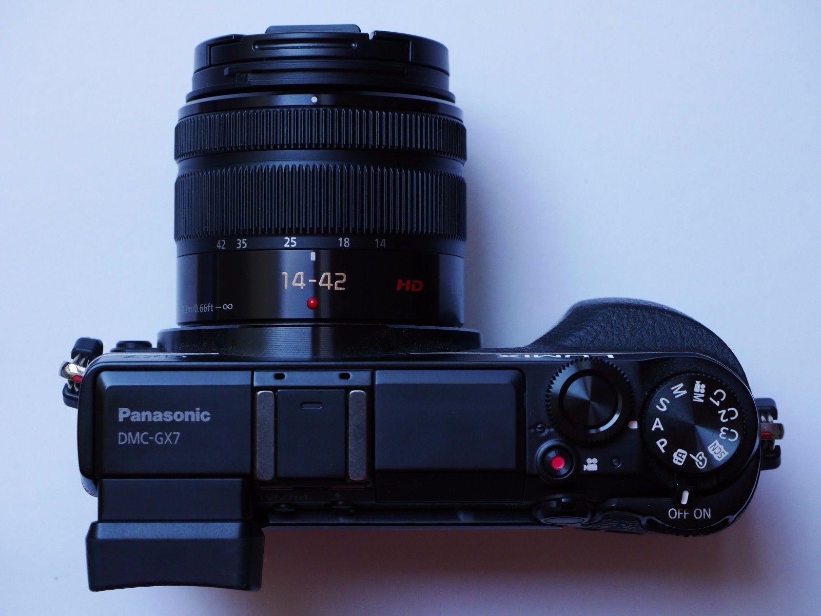 Panasonic LUMIX DMC-GX7 16.0MP Digitalkamera - Schwarz (Kit mit G ASPH. MEGA...