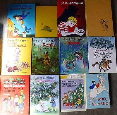 Astrid Lindgren, 20 Bücher, div, Verlage, Hardcover/Taschenbuch