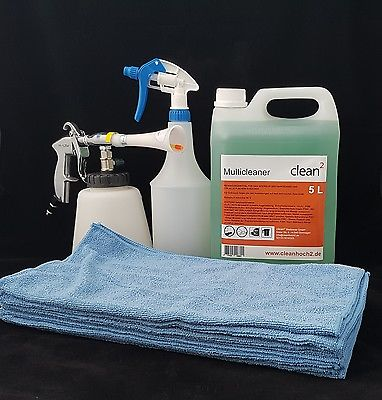 Blow Gun Set:Reinigungspistole Multicleaner Tornador ® Mikrofasertücher Blau
