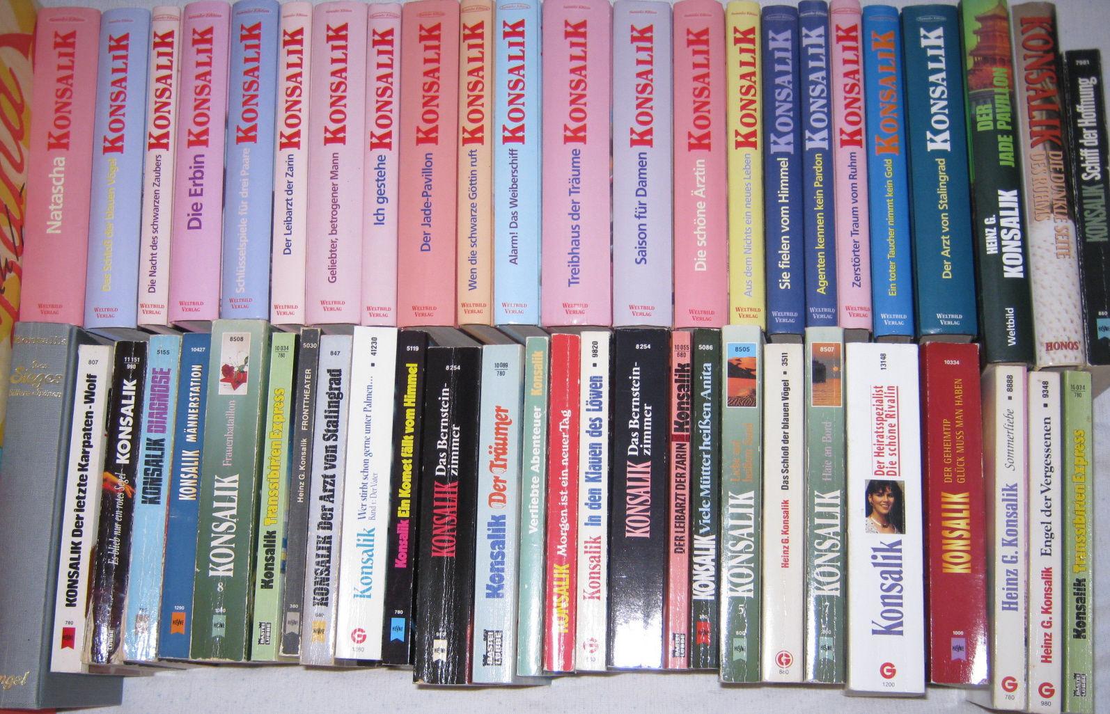50x Heinz G Konsalik große Bücher Sammlung Buch Paket Bestseller Romane Weltbild