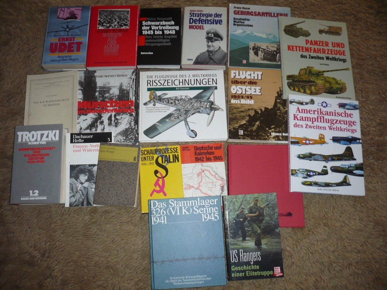 Bücherpaket 19 St. Militär, 2. Weltkrieg, Gefangenschaft, NS-Zeit, Luftwaffe