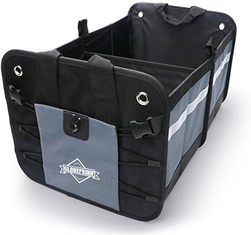 Kofferraum-Tasche Organizer Faltbox für Ihr Auto / PKW in edlem Schwarz - Grau von Globeproof®