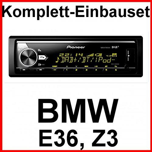 Komplett-Set BMW 3er E36 Z3 mit Pioneer MVH-X580DAB USB Autoradio DAB+ Bluetooth