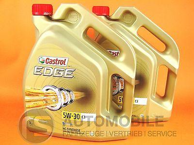 Castrol Edge 5W30 C3 Öl Motoröl FST 5W-30 VW Audi BMW MB Skoda Seat 2x 5 Liter