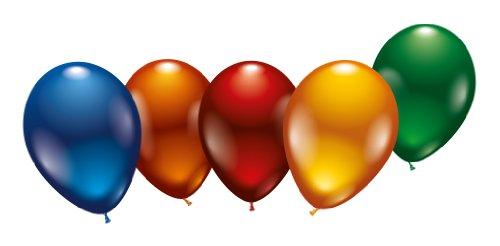 Karaloon 10002 - 8 Metallic-Ballons 23-25 cm, sortiert
