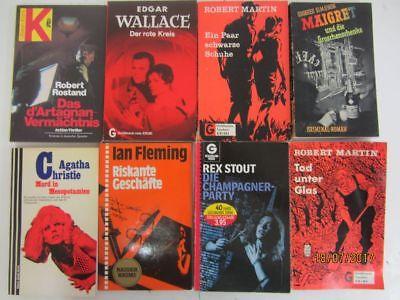 110 ältere Kriminalromane Krimi Detektivromane Spionageromane Thriller