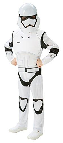 Rubies 3620268 - EP7 Stormtrooper deluxe child, M, weiß/schwarz