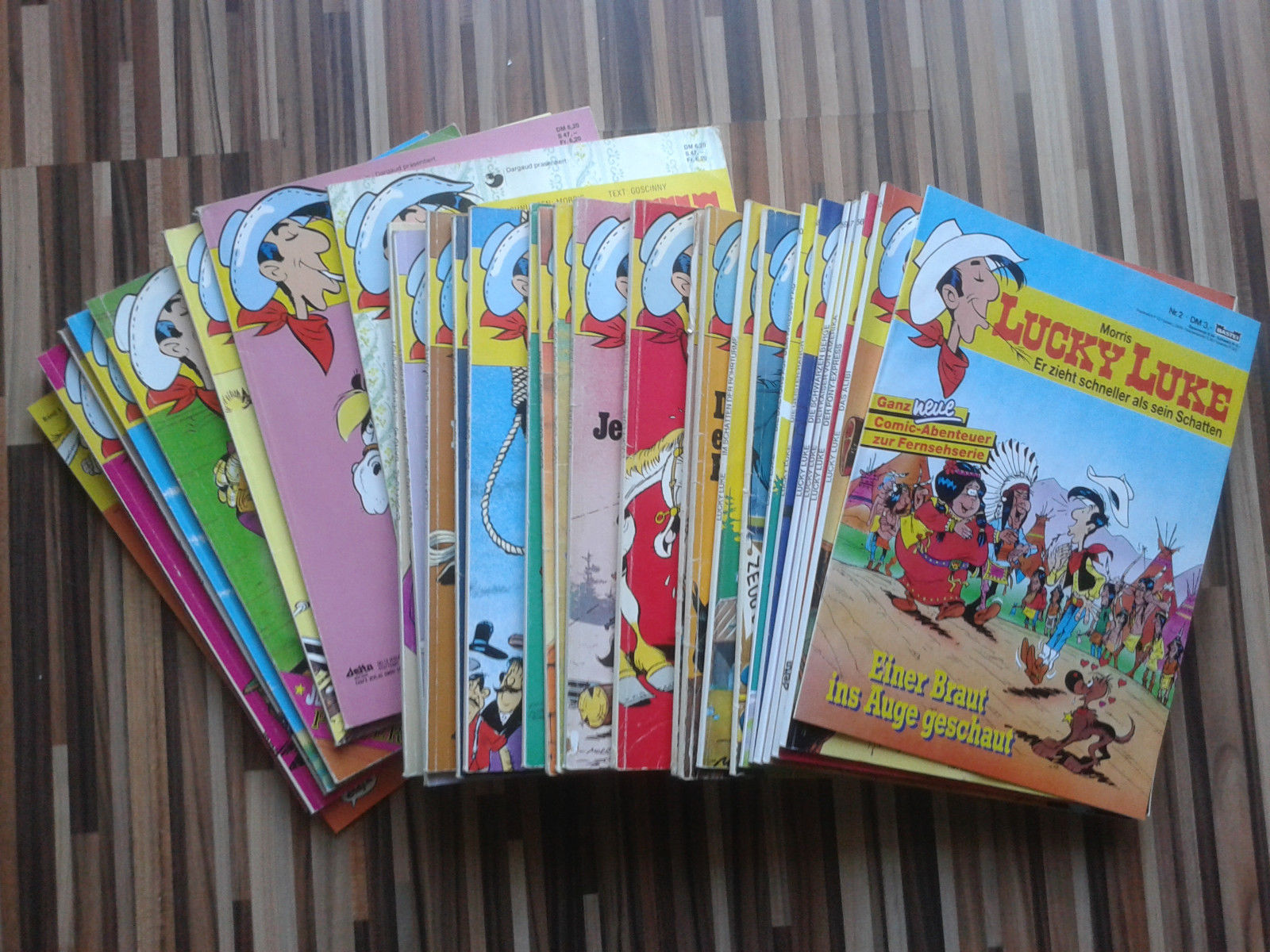 30 x Lucky Luke Comics Comic Comic Sammlung Paket Comicsammlung