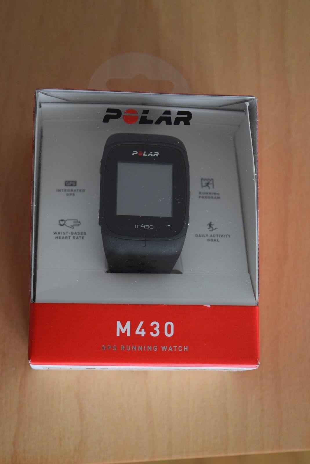 Polar M430 mit GPS Laufuhr schwarz Messung am Handgelenk mit OVP
