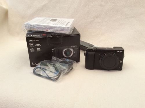 Panasonic LUMIX GX80 16.0MP Digitalkamera - Schwarz (Kit mit Nur Gehäuse Objek…