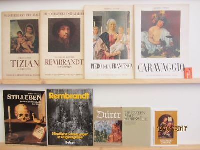 43 Bücher Bildbände Maler Malerei Künstler Gemälde Tizian Dürer Rembrandt u.a.