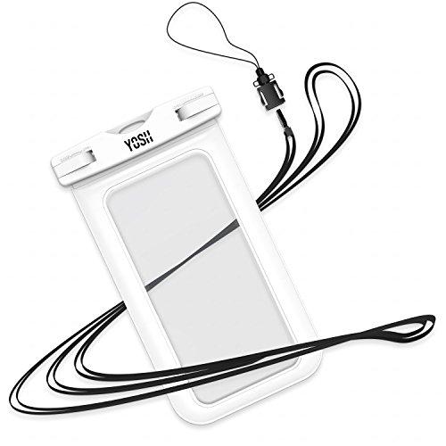 Wasserdichte hülle handyhülle beutel YOSH® für iPhone 6s 6 Plus 5 5s Samsung Galaxy S8 S6 S7 Huawei P9 P8 Honor 8 5X BQ Aquaris Honor Moto handy tasche, bis zu 6 Zoll. Für Geld Reisepass ?LEBENSLANGE GARANTIE?(Weiß)
