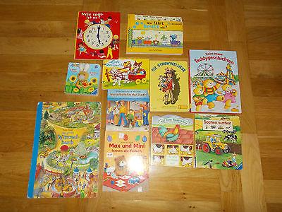 Bücherpaket 11 Kinderbücher Papp-Bilderbücher für kleine Kinder Kikaninchen ...