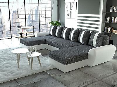 Couch Garnitur Ecksofa Sofagarnitur Sofa PUMA Schlaffunktion Wohnlandschaft NEU