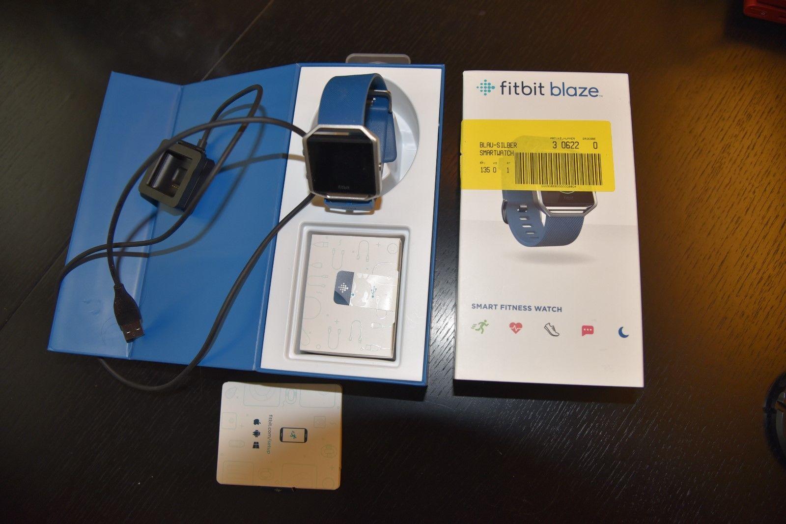 Fitbit Blaze, Blau/Silber Gr L OVP (nur 3-4 mal getragen)