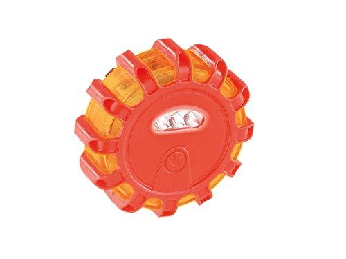 Lescars Warnleuchte: Rundum-Warnblinkleuchte mit roten & weißen LEDs, 5 Leuchtmodi, IP44 (Rundumleuchte)