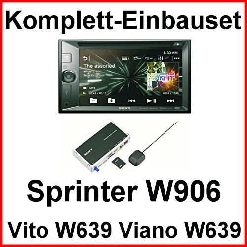 Komplett Set Mercedes Vito Viano W639 W447 Sprinter Sony XNV-KIT651 Bluetooth USB CD DVD MP3 Autoradio 2-DIN Navigation Touchscreen Freisprecheinrichtung
