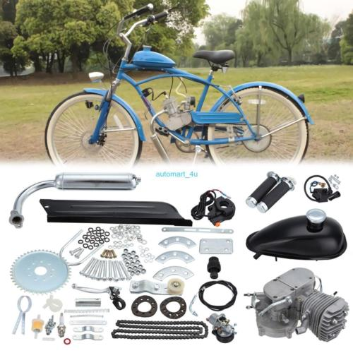 2-Takt 80cc Moteur Fahrrad Motorisierte Benzin Hilfsmotor Bike Cycle Engine Kit