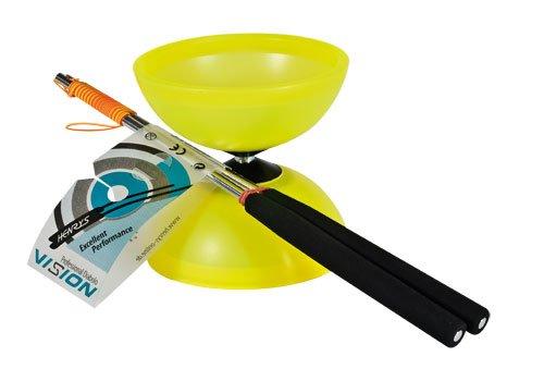 Henrys J04050-05 - Yo-Yo, Diabolo Vision Set, inklusive Handstäbe, gelb