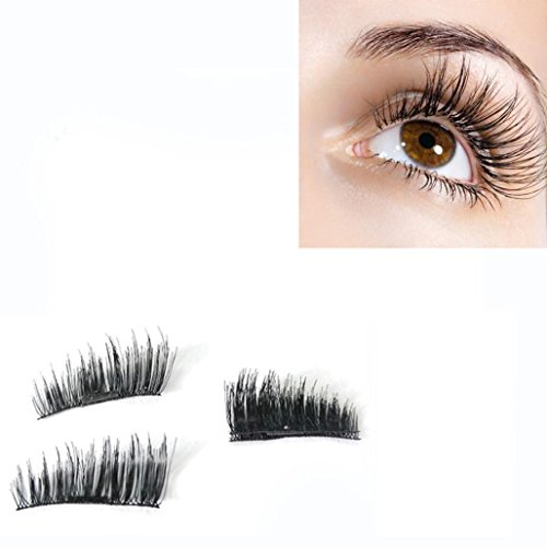 Yukong falsche Wimpern, 4 pieces 3D 0.2mm Ultra-thin Magnetic Eye Lashes Reusable False Magnet Eyelashes Extension