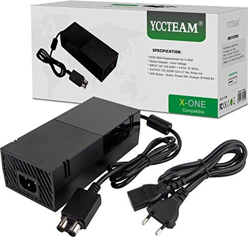 Xbox One Netzteil Brick, AC Adapter Ersatz Kit für Xbox 1 Konsolen, DE Ladekabel, Auto-Spannung