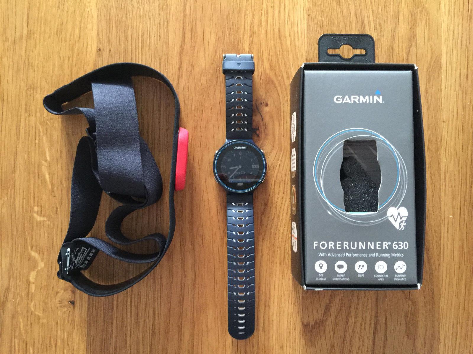 Garmin Forerunner 630 GPS Sportuhr unbenutzter Brustgurt - Wie Neu!