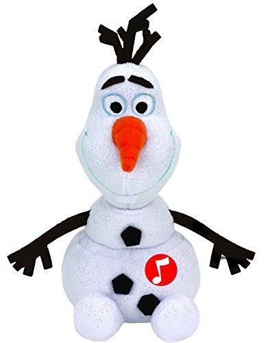 TY 41148 - Plüschtier - Disney die Eiskönigin - Olaf Glitter mit Sound, 20 cm