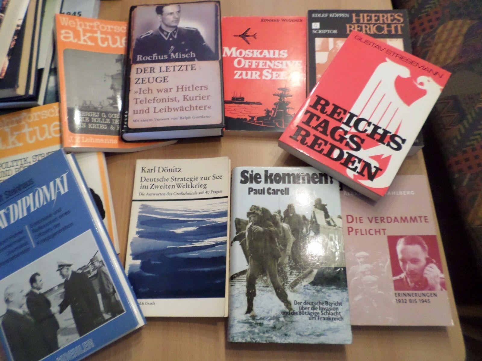 Große Büchersammlung 1. und 2. Weltkrieg!! Dokumentationen und Berichte! Liste!!